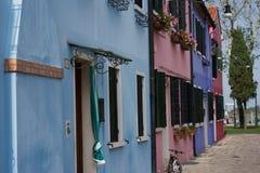 Burano wyspa, Wenecja, Włochy zdjęcia royalty free