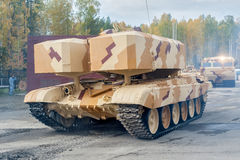 Buratino loading transport. TOS-1A system. Russia Stock Photos