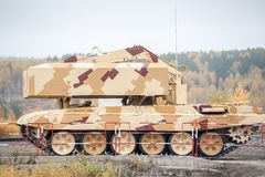 Buratino loading transport. TOS-1A system. Russia Royalty Free Stock Photos