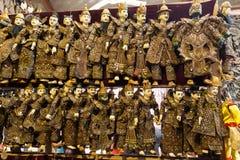Burattini birmani tradizionali Fotografia Stock Libera da Diritti
