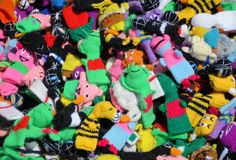 Burattini del calzino Fotografia Stock
