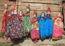 Burattini musicali da vendere a Jaipur. Immagini Stock