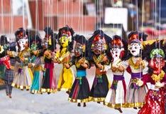 Burattini nepalesi Fotografia Stock Libera da Diritti
