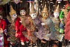 Burattini tradizionali dell'artigianato Fotografie Stock Libere da Diritti