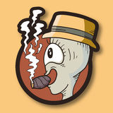Burattino del fumo Fotografie Stock Libere da Diritti