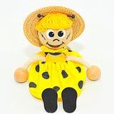 Burattino dell'ape della ragazza Fotografie Stock
