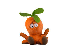 Burattino della carota Fotografia Stock Libera da Diritti