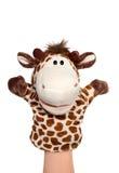 Burattino della giraffa Fotografie Stock