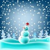 Burattino della neve Fotografia Stock