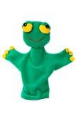 Burattino di mano della rana verde Fotografia Stock