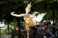 Burattino tailandese Hanuman Captures Benchakaya Immagine Stock Libera da Diritti