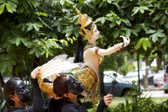 Burattino tailandese Hanuman Captures Benchakaya Fotografia Stock