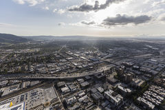 Burbank California Afternoon Aerial Stock Images