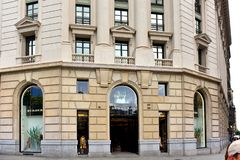Burberry in Barcelona, Spanien Lizenzfreies Stockbild