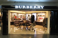 Burberry brand store Stock Photography