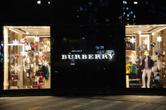 Burberry Fashion Boutique Royalty Free Stock Images