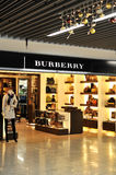 Burberry fashion store Royalty Free Stock Images