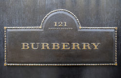 Burberry in London Royalty Free Stock Photos