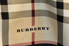 Burberry scarf Stock Images