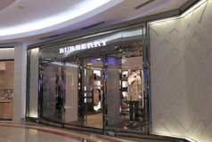 Burberry shop Stock Photo