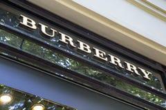 Burberry sklepu znak Fotografia Stock