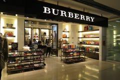 Burberry-Speicher Lizenzfreies Stockfoto