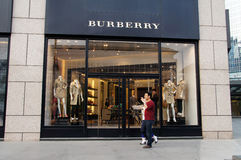 Burberry store Stock Image