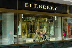 Burberry store Stock Photography