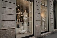 Burberryboutique Milaan Stock Afbeeldingen
