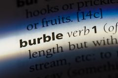 burble Royalty Free Stock Image