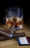 Burbon and Cigar Royalty Free Stock Photography