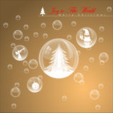 Burbuja abstracta de la Navidad Imagenes de archivo