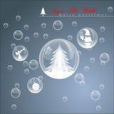 Burbuja abstracta de la Navidad Fotos de archivo