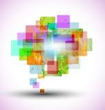 Burbuja abstracta del discurso Imagen de archivo libre de regalías