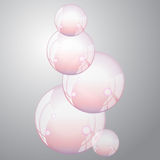 Burbuja-acción transparente del jabón Fotografía de archivo libre de regalías