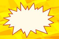 Burbuja amarilla de los tebeos del fondo del arte pop Fotografía de archivo libre de regalías