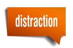 Burbuja anaranjada del discurso 3d de la distracción libre illustration