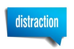 Burbuja azul del discurso 3d de la distracción stock de ilustración