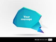 Burbuja azul del mensaje. Foto de archivo libre de regalías
