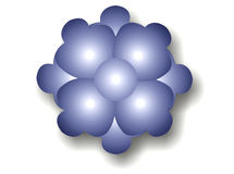 Burbuja azul marino de la flor Fotografía de archivo libre de regalías