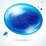 Burbuja azul viva. Imagen de archivo libre de regalías