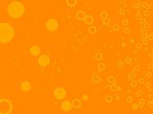 Burbuja baja anaranjada stock de ilustración