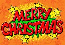 Burbuja cómica del discurso de la Feliz Navidad Fotos de archivo libres de regalías
