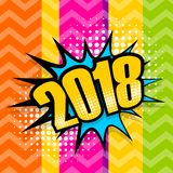 Burbuja cómica 2018 del discurso del texto del arte pop Foto de archivo libre de regalías