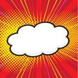 Burbuja cómica en blanco del discurso ilustración del vector