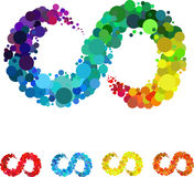 Burbuja circular colorida Foto de archivo libre de regalías
