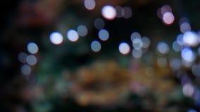 Burbuja de aire del color de la falta de definición de la máquina del oxígeno Fondo abstracto del bokeh de la falta de definición metrajes