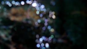 Burbuja de aire del color de la falta de definición de la máquina del oxígeno Fondo abstracto del bokeh de la falta de definición almacen de metraje de vídeo