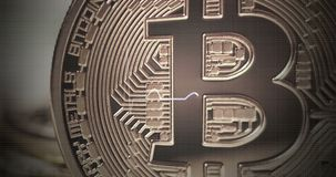 Burbuja de Bitcoin Bitcoin Crypto-episodio maníaco stock de ilustración