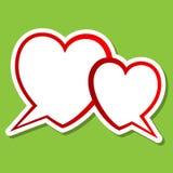 Burbuja de dos corazones Imagen de archivo